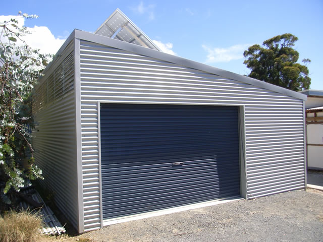 Oko bi shed roof garage learn how for Shed roof garage plans